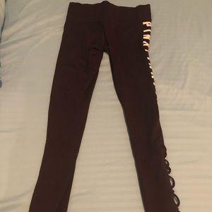 PINK maroon leggings